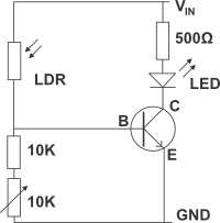 Photoresistor on led circuit diagrams