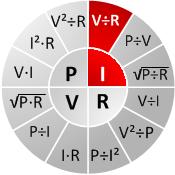 Ohm's chart I=V/R