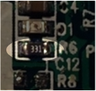 SMD resistor on a circuit board