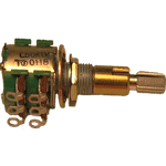 Concentric potentiometer, having 2 concentric shafts having the ability to adjust the two channels independently