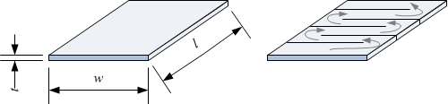 Electrical resistance Rs of a sheet or thin film