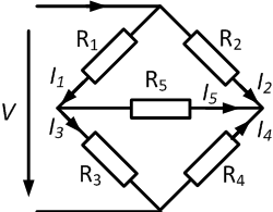 bridge circuit with resistors