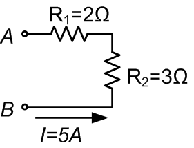 Example of a circuit with resistors in series